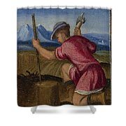 The Labours Of The Months   February Shower Curtain