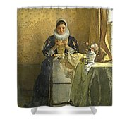 The Lace Maker  Shower Curtain
