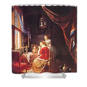 The Lady At Her Dressing Table 1667 Shower Curtain