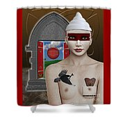 The Lady In Waiting Shower Curtain by Keith Dillon