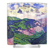 The Lady Of Isenfluh Shower Curtain
