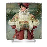 The Lady Of The Snows Shower Curtain