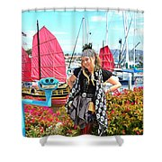 The Lady Pirate Shower Curtain