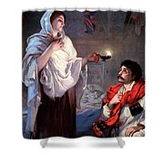 The Lady With The Lamp, Florence Shower Curtain by Science Source