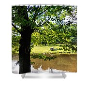 The Lake In The Park Shower Curtain