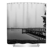 The Lake Shower Curtain by Michael Tesar