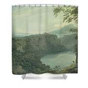 The Lake Of Nemi And The Town Of Genzano Shower Curtain