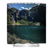 The Lake On A Mountain Shower Curtain