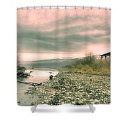 The Lake Walker Shower Curtain