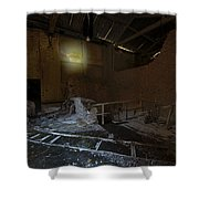 The Lamp Of The Abandoned Furnace Quarry  Shower Curtain by Enrico Pelos