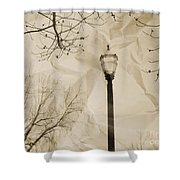 The Lampost Shower Curtain