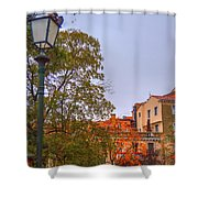 The Lamppost In Oil Shower Curtain