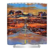 The Land Of Rock Towers Shower Curtain