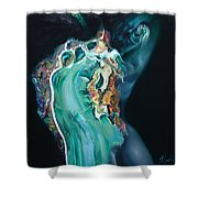 The Landlady Of Copper Mountain Shower Curtain