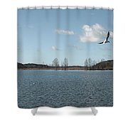 The Landscape Along The Finnish Coast Shower Curtain
