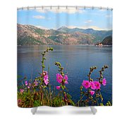 The Landscape Of The Bay Of Kotor In Montenegro. Shower Curtain