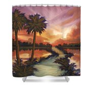 The Lane Ahead Shower Curtain