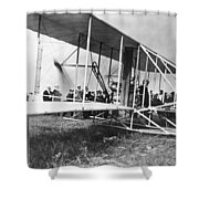 The Langley Airplane Shower Curtain