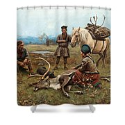 The Laplander Camp At Gleen Shower Curtain