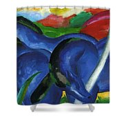 The Large Blue Horses 1911 Shower Curtain
