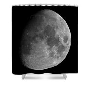 The Largest Moon Photograph Ever Taken From Earth Shower Curtain by Bartosz Wojczynski