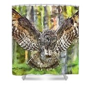 The Largest Owl Shower Curtain