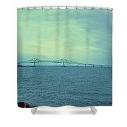 The Last Bridge Before The Ocean   Shower Curtain