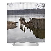 The Last Concrete Wall Shower Curtain