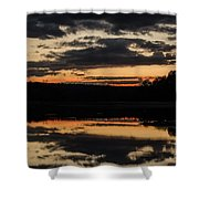 The Last Glow Shower Curtain