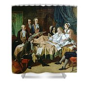 The Last Hours Of Mozart 1756-91 Henry Nelson Oneil Shower Curtain