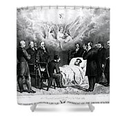 The Last Moments Of President Lincoln Shower Curtain by Photo Researchers
