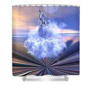 The Last Of The Unicorns Shower Curtain