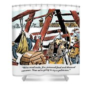 The Last Resort. Shower Curtain