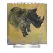 The Last Rhino Shower Curtain