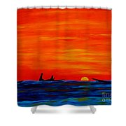 The Last Set Shower Curtain