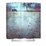 The Last Snowfall Shower Curtain