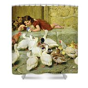 The Last Spoonful Shower Curtain by Briton Riviere