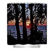 The Last Sun Shower Curtain
