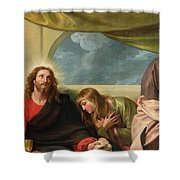 The Last Supper Shower Curtain by Benjamin West