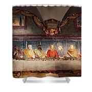 The Last Supper. Fresco In Church Santa Maria Del Carmine, Florence  Shower Curtain