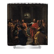 The Last Supper Shower Curtain by Nicolas Poussin
