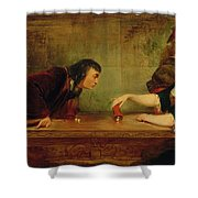 The Last Throw , Charles Robert Leslie Shower Curtain
