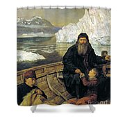 The Last Voyage Of Henry Hudson Shower Curtain