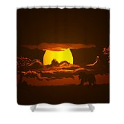 The Last Water Hole Shower Curtain