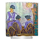 The Latin Quarter Shower Curtain