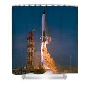 The Launch Of The Mercury Atlas Shower Curtain