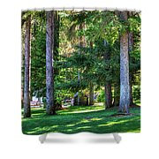 The Lawn At Hill's Resort Shower Curtain