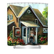 The Lazy Susan - Your Table Is Ready Shower Curtain
