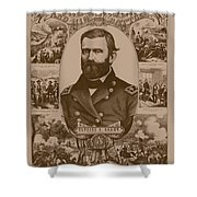 The Leader And His Battles - General Grant Shower Curtain