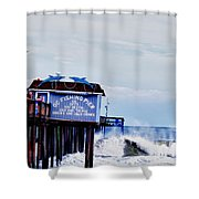 The Leaning Pier Shower Curtain